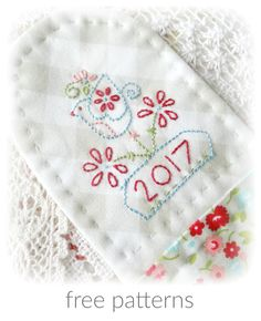 I've been stitching this for Valentines Day...           ...but more about that after I answer some questions.             Every day I rece...