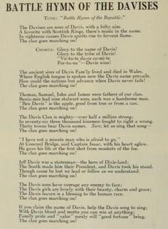 Davis Family History Part 1