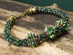 Ponderosa Pines Bracelet Instructions Designed by Cynthia Kimura  From ArtBeads. #Seed #Bead #Tutorials