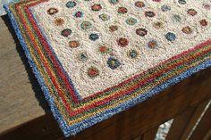 penny rug miniature needle punch dollhouselittles.etsy.com katie arthur