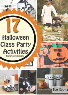 Halloween Activities for Class Parties - a fun variety of games and activities to take into the classroom. Room Moms this is what you've been looking for!