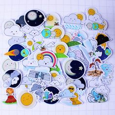Find More Memo Pads Information about 36pcs Self made Cloud Moon Sun Weather Scrapbooking Floral Stickers DIY Craft DIY Sticker Pakc Photo Albums Deco Diary Deco,High Quality album review,China album studio Suppliers, Cheap album photo from Candy DIY Store on Aliexpress.com
