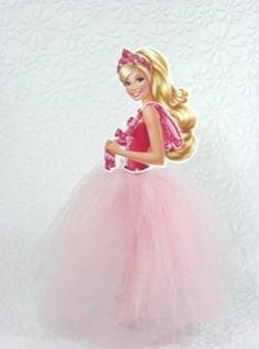 Lindos tubetes decorados com saia em tule no tema Barbie <br>Fazemos todos os temas, consulte nos
