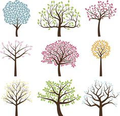 Vector Collection of Tree Silhouettes. No transparencies or gradients… Vector Collection of Tree Silhouettes royalty-free stock vector art Tree Silhouette, Silhouette Vector, Heart Tree, Tree Logos, Flower Doodles, Tree Art, A Tree, Doodle Art, Doodle Trees