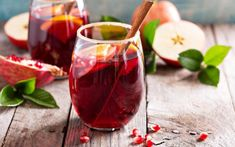 This full-bodied winter sangria is made with ruby port, cinnamon schnapps, clementines, cranberries and spices. Winter Sangria, Christmas Sangria, Holiday Cocktails, Summer Sangria, Classic Cocktails, Red Christmas, Pomegranate Punch Recipes, Pomegranate Juice, Honeycrisp Apples