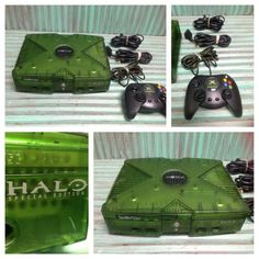 Original Halo Special Xbox Limited Edition Green Console System Tested Works