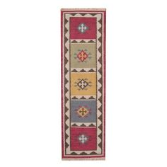 Herat Oriental Indo Hand-woven Vegetable Dye Tribal Kilim Wool Runner (2'4 x 8'2) | Overstock.com Shopping - The Best Deals on Runner Rugs