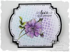 Made by Janet: Love your birthday Distress Oxides, Penny Black, Hero Arts, Tim Holtz, Flower Cards, Art Journals, It's Your Birthday, Stencils, Card Making
