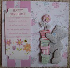 Tatty Teddy handmade Birthday card by UniqueCardsForYou on Etsy, Handmade Birthday Cards, Handmade Cards, Handmade Gifts, Tatty Teddy, Animal Cards, Envelope, Projects To Try, Happy Birthday, Craft Ideas