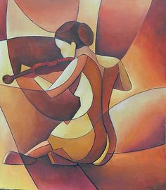 OLEJ NA SOLOLITU 80-70 cm,..originalitu zaručuji..zarámujte dle svého vkusu..... Modern Art Paintings, Fantasy Paintings, Cubist Art, Art Deco Wallpaper, Royal Art, Abstract Geometric Art, Africa Art, Erotic Art, Dark Fantasy