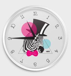 """Relógio de Parede """"Zebra"""""""