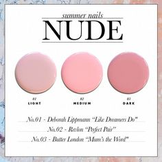 The Perfect Summer Nail Polish Colors for Your Skin Tone - Nude. // SHOP this list: www.dailymakeover.com