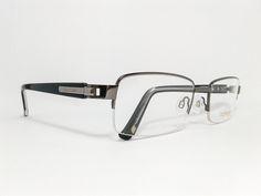 Óculos Grande Armação Metal Masculino Tamanho 56 Grafite