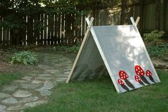 Nine Sixteen: Handmade Children's Tent DIY (use twin flat sheet or curtain for no-sew)