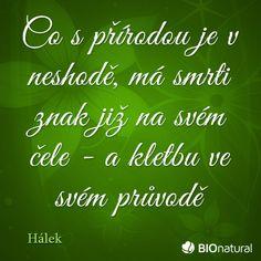 Citát o prírode od Hálka #citaty #priroda Chalkboard Quotes, Art Quotes