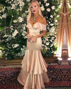 Blush Pink Off Shoulder Mermaid Prom Dresses,Long Evening Dresses Satin Gown, Satin Dresses, Elegant Dresses, Gowns, Formal Dresses, Inexpensive Wedding Dresses, Affordable Bridesmaid Dresses, Prom Dresses Online, Cheap Prom Dresses
