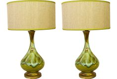 Midcentury Drip-Glaze Lamps, Pair on OneKingsLane.com