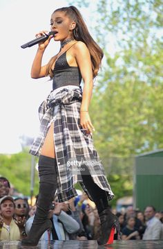 AMERICA - Ariana Grande kicks off the GMA Summer Concert Series from Central Park in New York City, on GOOD MORNING…