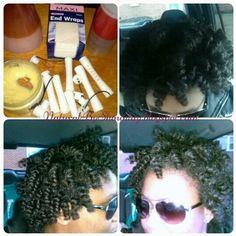 Perm Rod Set on Natural Hair ~ Tutorial For more visit, http://naturalbyshauntay.blogspot.com/2014/12/perm-rod-set-on-natural-hair.html?m=1