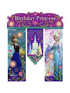 Disney Frozen Birthday Banner  Birthday Party Supplies ** You can find out more details at the link of the image.