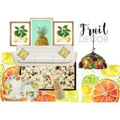 fruit decor Decorative Boxes, Fruit, Polyvore, Home Decor, Decoration Home, Room Decor, Home Interior Design, Decorative Storage Boxes, Home Decoration