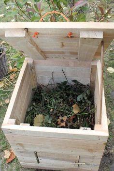 Un silo compost en palettes r cup r es jardin garden pinterest magazines et compost - Faire du compost en appartement ...