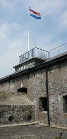Pampus, Stelling van Amsterdam, Werelderfgoed, Noord-Holland.