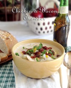 Chicken & Bacon Chowder | www.takingonmagazines.com | Satisfying comfort food in a bowl is the best way to describe this hearty Chicken & Bacon Chowder. It's full of flavor and takes under an hour to make.