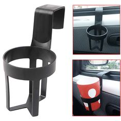 Pack of 2 Coffe Tumbler Black Universal Plastic Car Cup Holder for Water Cup Drink Bottle Mug and Soda Can at The Door Mount Stand Hanging Hook or Carseat Headrest Seat Back Organizer