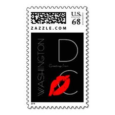 Greetings from #Washington D.C. Red Lipstick Kiss #Stamps