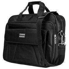 "Black Travel Carrying Oxford Business Briefcase Messenger Bag for 15.6"" Laptop"