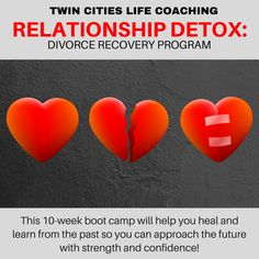 Has your relationship ended (or is ending)? Such an important phase of your life deserves professional attention and care. Let Twin Cities Life Coaching's Relationship Detox Program help you process, heal, and grow so you can approach the future with confidence! FREE Consultation Available!