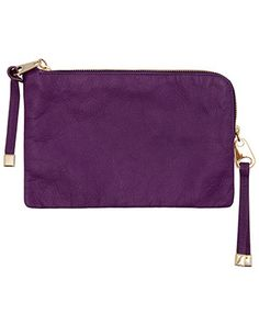 Pochette di pelle, amazing purple color