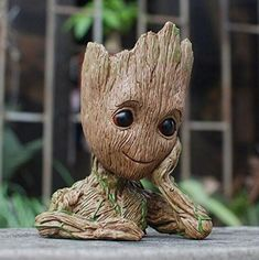 Baby Groot with a Flowerpot in his head! The cutest Flowerpot you will ever own. A bust of Baby Groot from Marvels Gaurdians of th Galaxy Vol. by Groot is high and can hold pens a plant or any other small treasures or trinket you may have. Groot Figurine, Baby Groot Action Figure, 2 Baby, I Am Groot, Christmas Gifts For Kids, Christmas Items, Guardians Of The Galaxy, Flower Pots, Action Figures