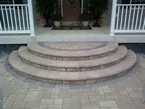 Nice Round Stairs On Porch Made Of Pavers   Yahoo Image Search Results