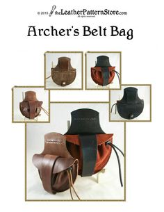 Archer's Belt Bag pattern PDF leather by leatherpatternstore