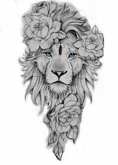 Animal Sleeve Tattoo, Lion Tattoo Sleeves, Best Sleeve Tattoos, Leo Tattoo Designs, Tattoo Design Drawings, Tattoo Sleeve Designs, Leo Lion Tattoos, Lion Tattoo On Thigh, Lion Woman Tattoo