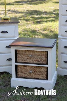 Southern Revivals blog Repurpose old nightstand