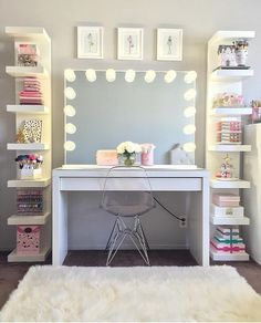 dream rooms for girls teenagers ~ dream rooms . dream rooms for adults . dream rooms for women . dream rooms for couples . dream rooms for girls teenagers . dream rooms for adults bedrooms Cute Bedroom Ideas, Cute Room Decor, Teen Room Decor, Room Ideas Bedroom, Bedroom Girls, Tween Girl Bedroom Ideas, Master Bedroom, Girls Room Desk, Teenage Girl Bedrooms