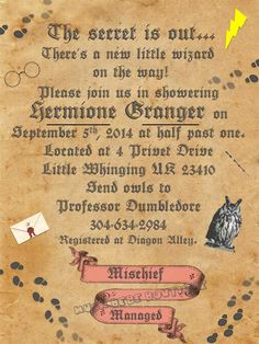 Yes!  Finally something Harry Potter themed since I'm not hardcore enough to do an HP themed wedding ha ha