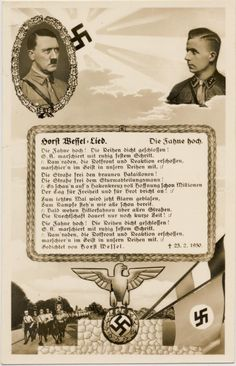 Horst Wessel Song Card