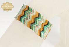 Zig Zag Pattern Peyote Stitch Bracelet - © Chris Franchetti Michaels