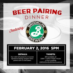 Edith + Arthur Presents The Brooklyn Brewery Craft Beer Pairing Dinner | Brooklyn Brewery – if you don't know it, it produces some of the absolute FINEST and most coveted craft beers in North America.