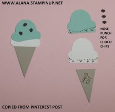 Ice Cream Punch Art. Using Foxy Friends Stamp Set and Foxy Builder Punch from Stampin\' Up!