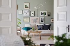 my scandinavian home: A calm Swedish apartment in green and cognac