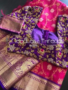 Blouse work designs Maggam work blouses Wonderful Wedding Gift Ideas Most People Don't Think Of Ever Wedding Saree Blouse Designs, Pattu Saree Blouse Designs, Fancy Blouse Designs, Blouse Neck Designs, Wedding Blouses, Magam Work Blouses, Latest Maggam Work Blouses, Home Design, Hand Work Blouse Design