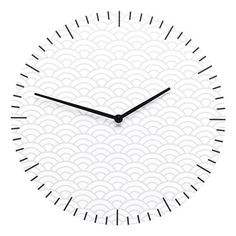 Wall Clock Clouds, White