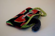 Mouthguard Case, Mouthguard Holder, Retainer case, watermelon, sports gear, braces by HungryRhinoStudios on Etsy