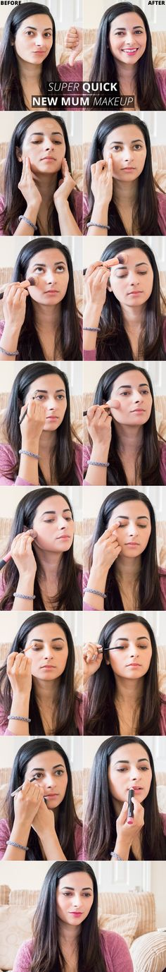 3 Minute New Mum Makeup Routine - quick tutorial for busy mums! -> http://www.ysislorenna.com <- #mummymakeup