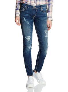 True Religion Women's Casey Super T Low Rise Super Skinny Jean in Electric Blue #TrueReligion #SlimSkinny